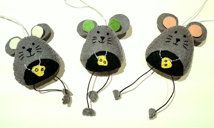 Мышки на Новый год, детские поделки