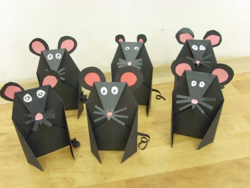 Мышь поделка на Новый год из бумаги