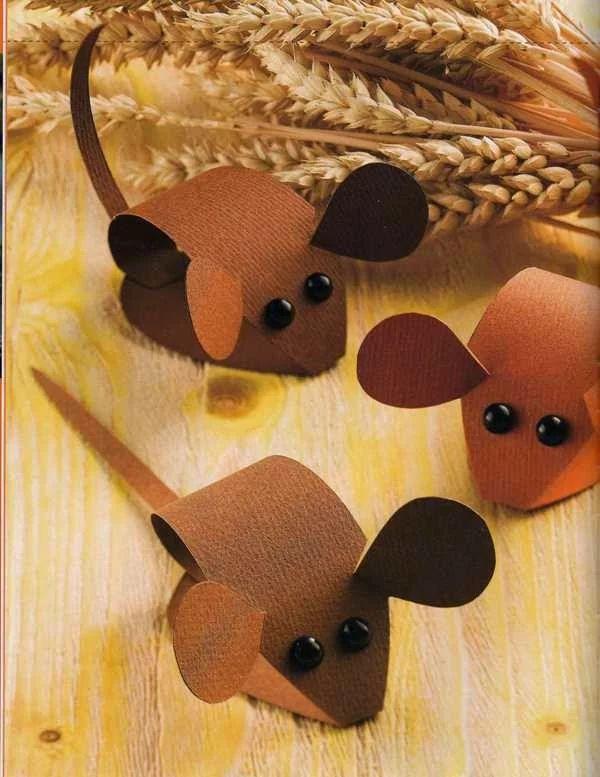 Поделка в сад на Новый год мыши, своими руками