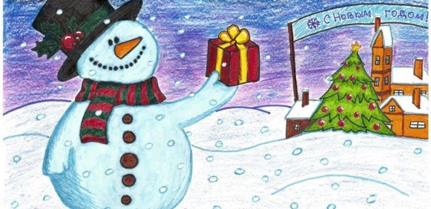 Новый год рисунки детей