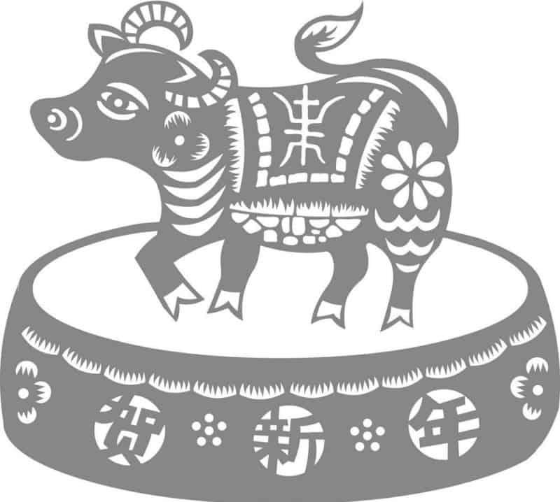 Трафареты на Новый год 2021  - символ года бык