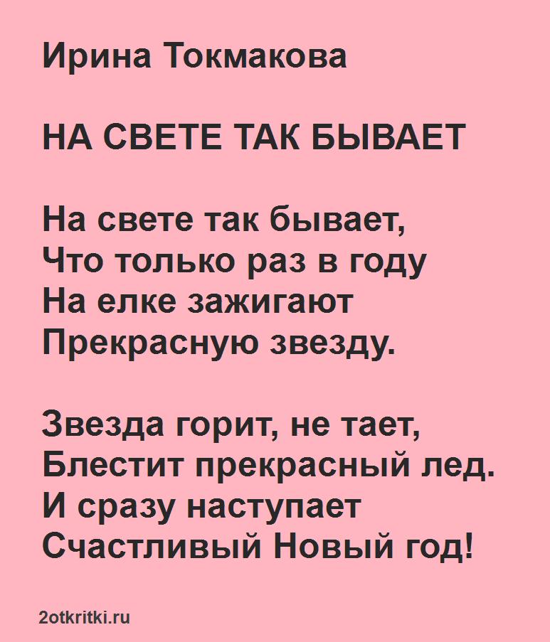 Интересные стихи про Новый год для школьников
