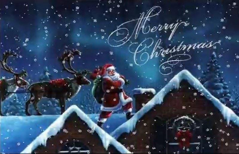 Скачать бесплатно открытку с Католическим Рождеством, с надписью