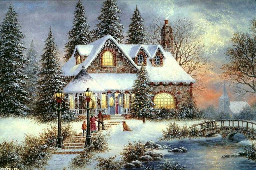 Красивая открытка с Католическим Рождеством, бесплатно