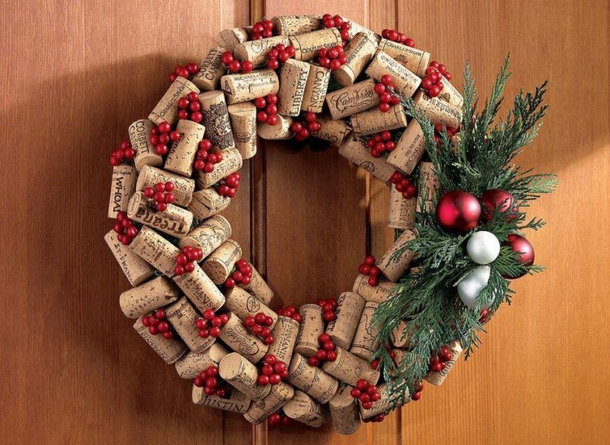 Новогодние украшения на дверь