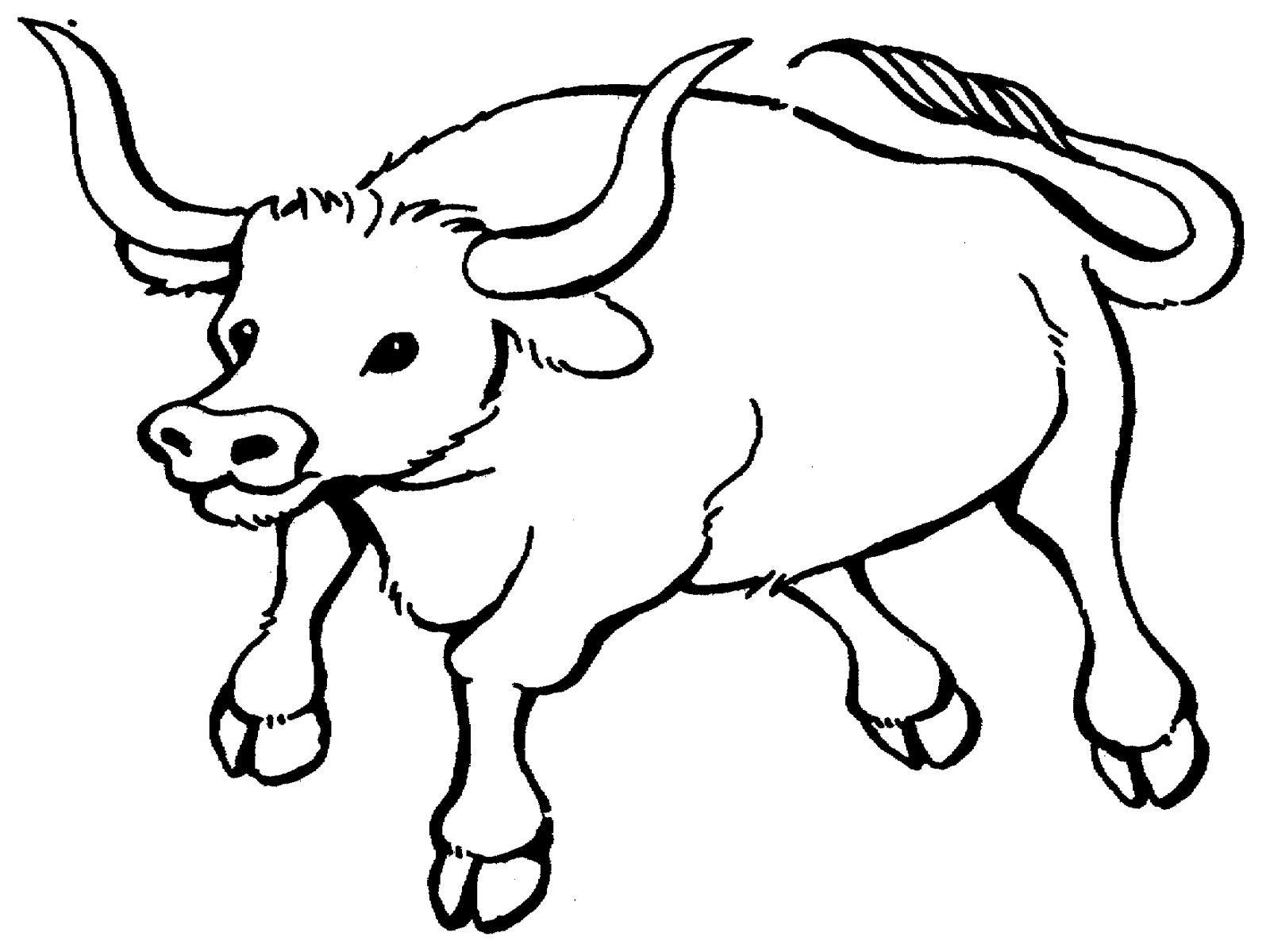 Трафарет на окно - символ Нового года бык