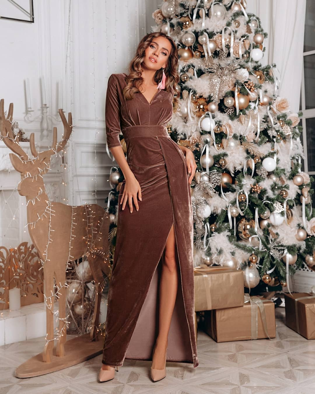 Красивое платье на Новый год 2020