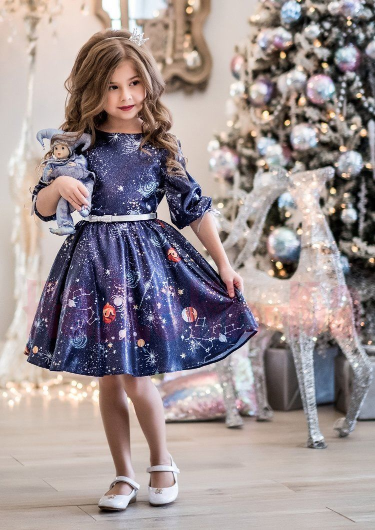 Модное платье для девочки на Новый год 2021