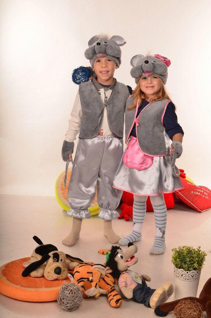 Костюмы мышки на Новый год для мальчика и девочки