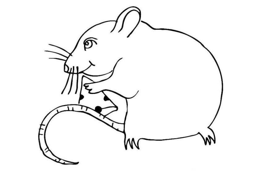 Рисунок мышки на Новый год 2020