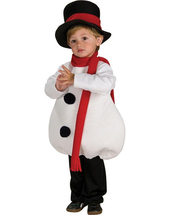 Костюм снеговика на Новый год для мальчика
