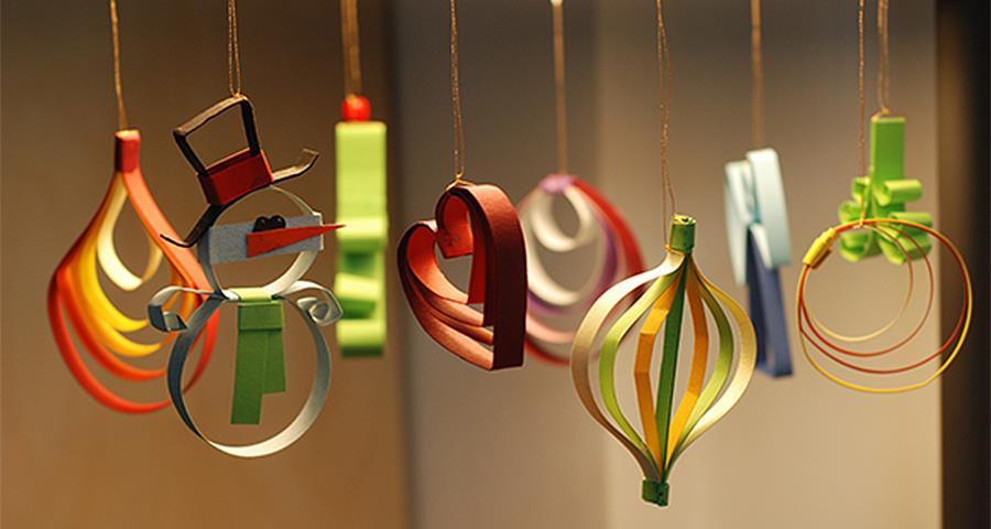 Игрушки из бумаги на Новый год