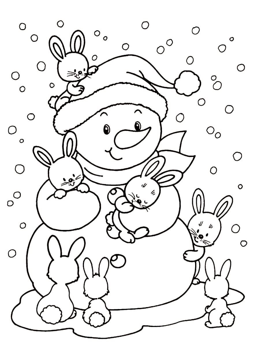 Раскраска Новый год 2020 для детей. Распечатать бесплатно