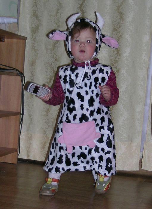 Новогодний костюм быка для девочки