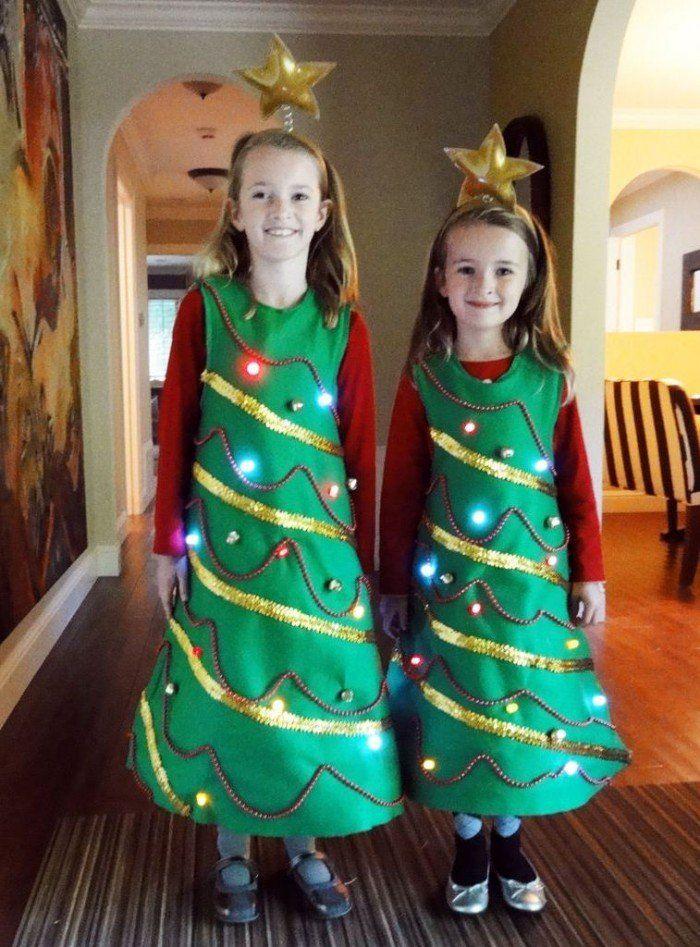 Костюм елочки на Новый год, своими руками