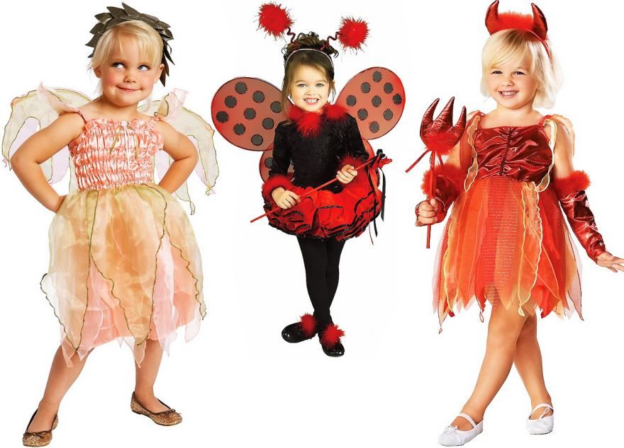 Новогодние костюмы для девочек, своими руками