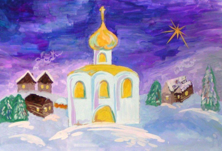 Рисунок на Рождество Христово