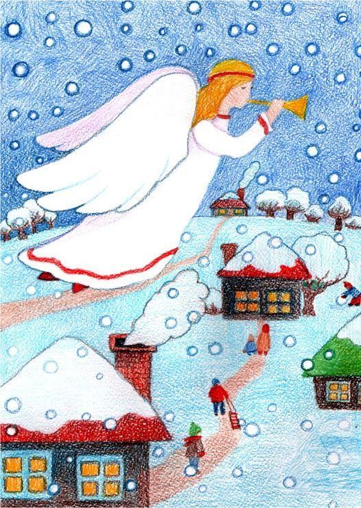 Рисунок - ночь перед Рождеством