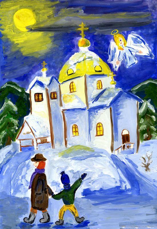Рисунок Рождество, детский