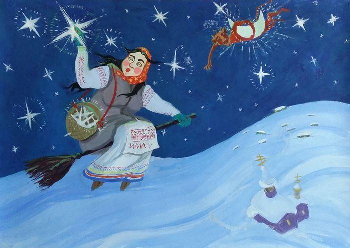 Рисунки - ночь перед Рождеством, Гоголь