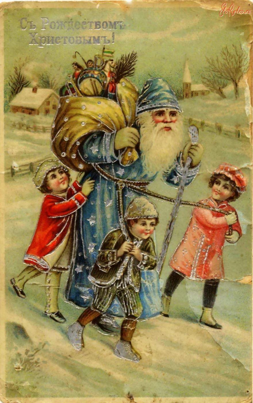 Старинные открытки Новогодние Рождество