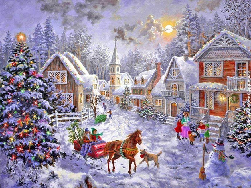 Красивая картинка Рождество в России
