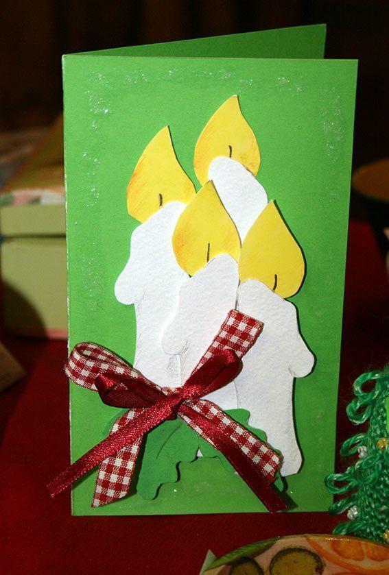 Объемная открытка на Рождество, своими руками