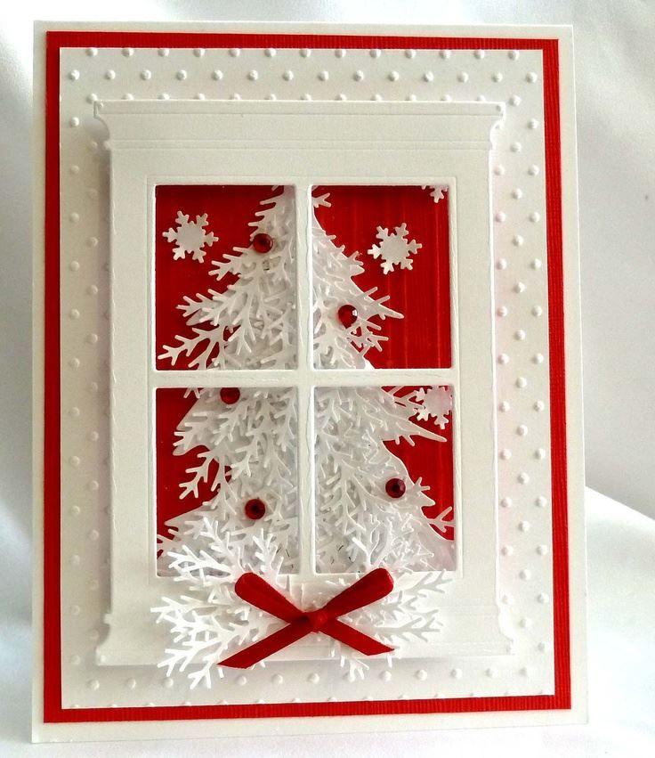 Красивая, объемная открытка на Рождество, своими руками