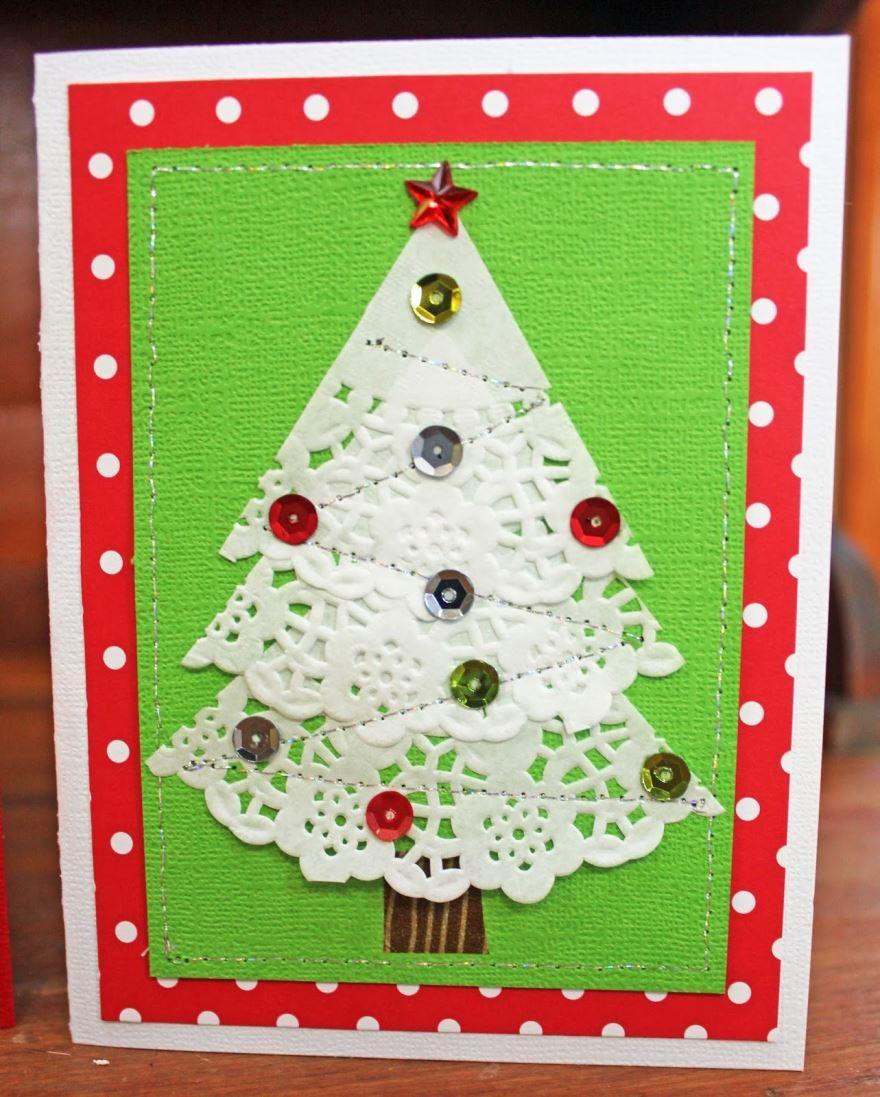 Как сделать открытку на Рождество своими руками