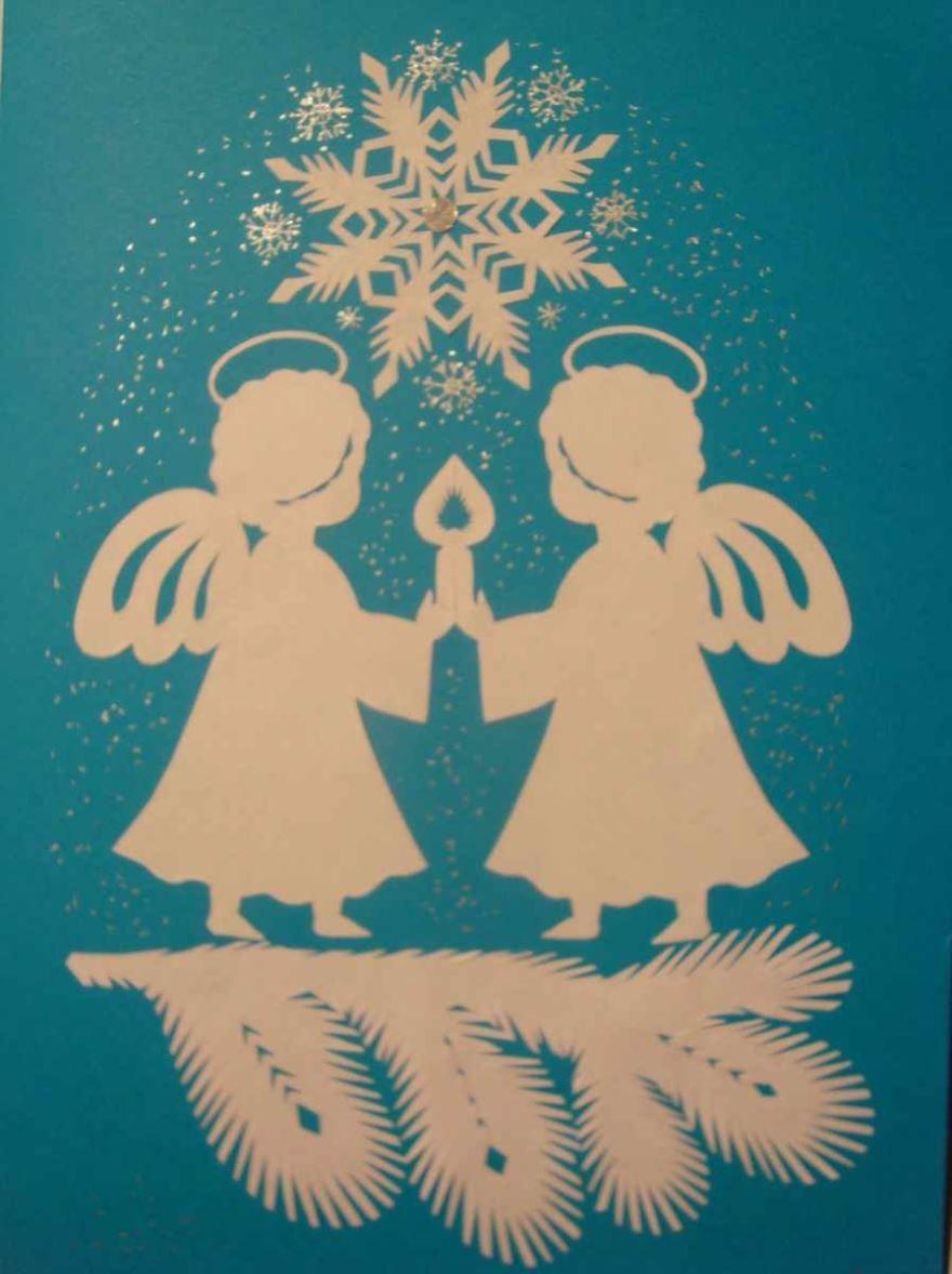 Детские открытки своими руками на Рождество