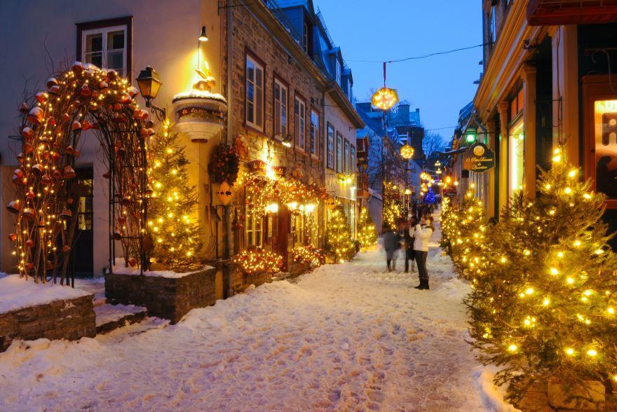Рождественские улицы, красивое фото