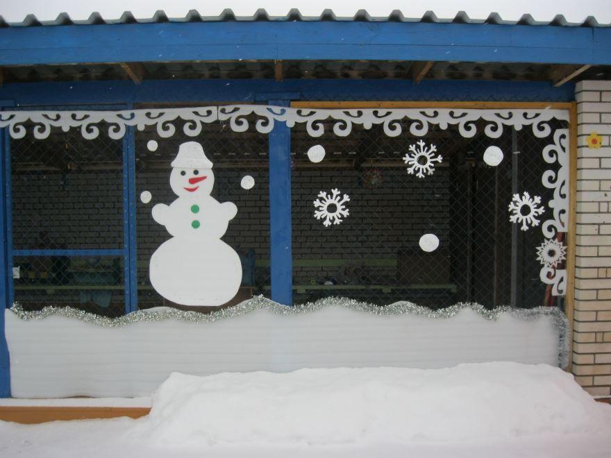 Украшение веранды детского сада к Новому году