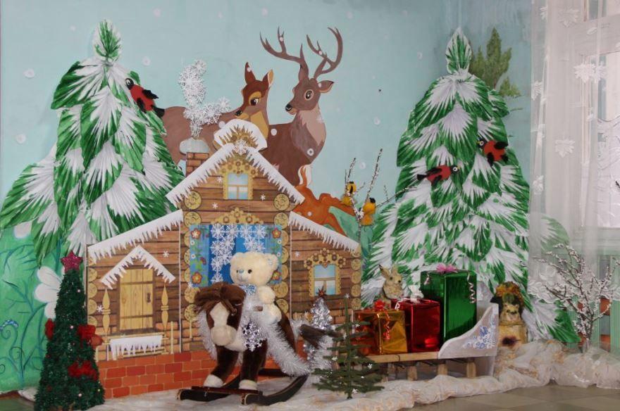 Украшение группы детского сада к Новому году