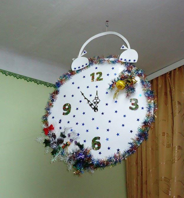Украшение потолка группы в детском саду к Новому году