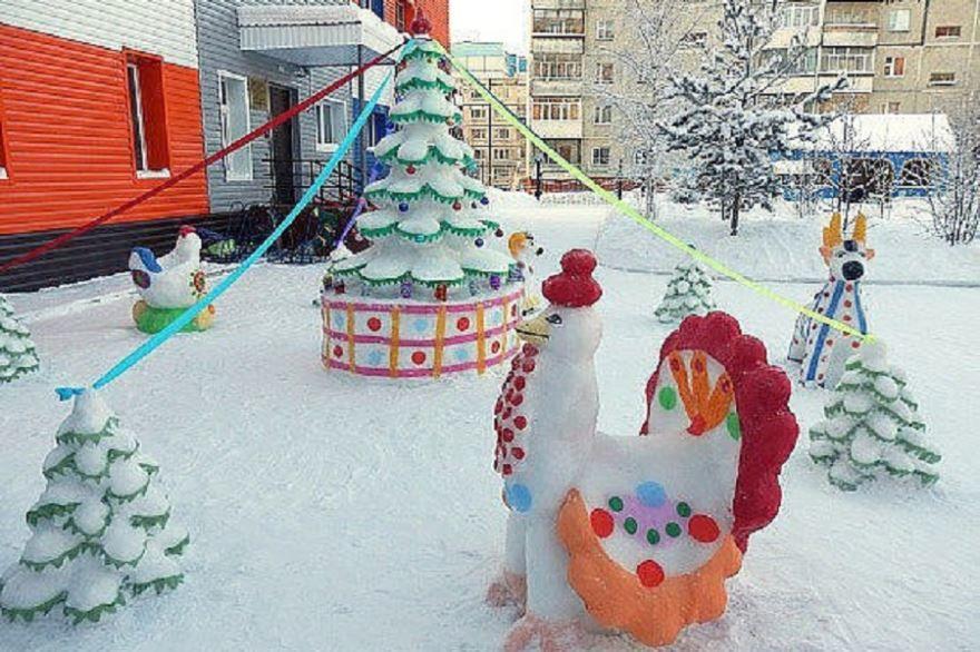 Украшение детского сада к Новому году, фото