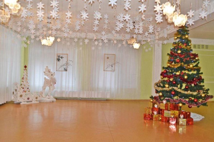 Оформление зала в детском саду к Новому году своими руками