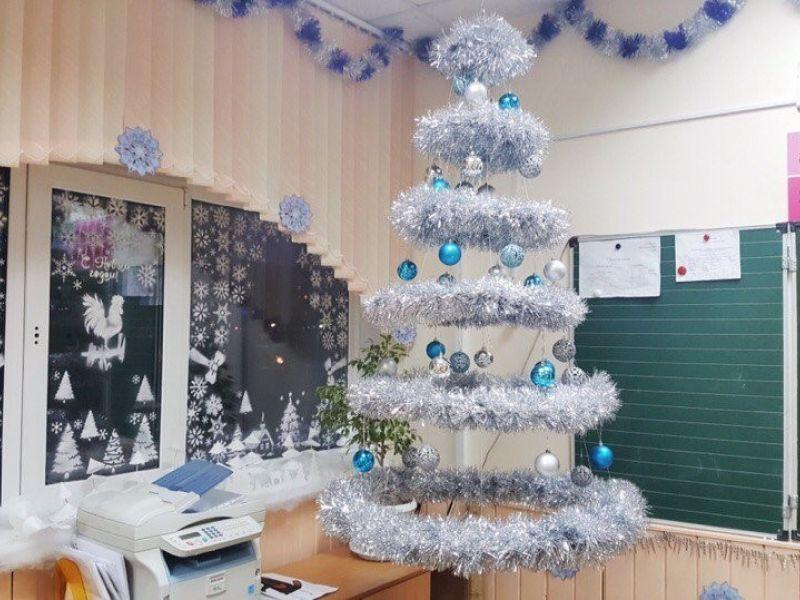 Идеи украшения класса к Новому году