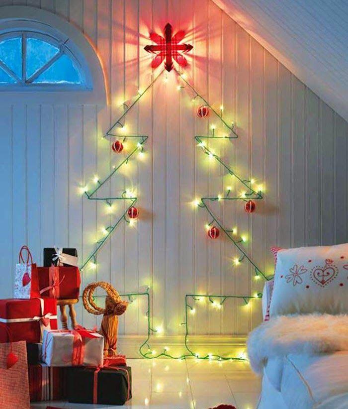 Украшение комнаты гирляндой на Новый год