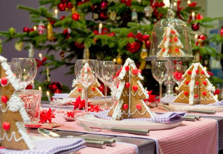 Украшение стола к Новому году, своими руками
