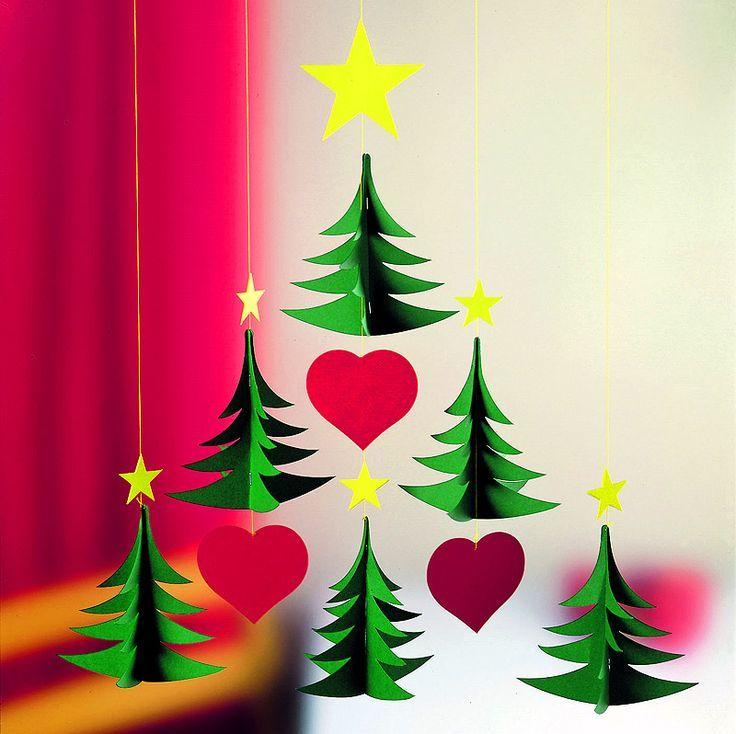 Украшения из бумаги на Новый год, елочки