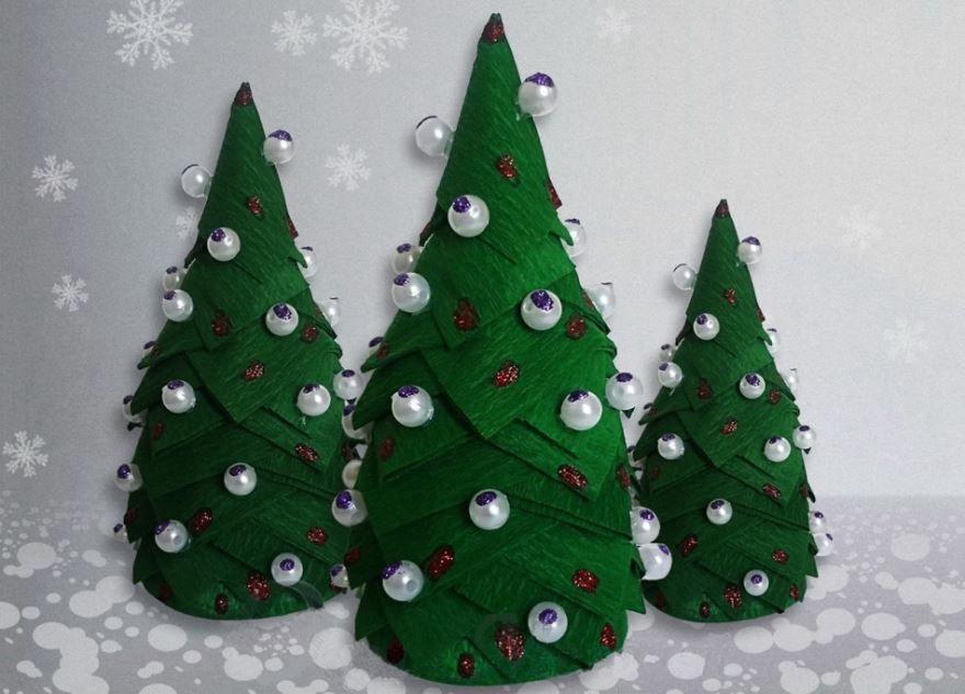 Поделка Новогодняя елка, своими руками