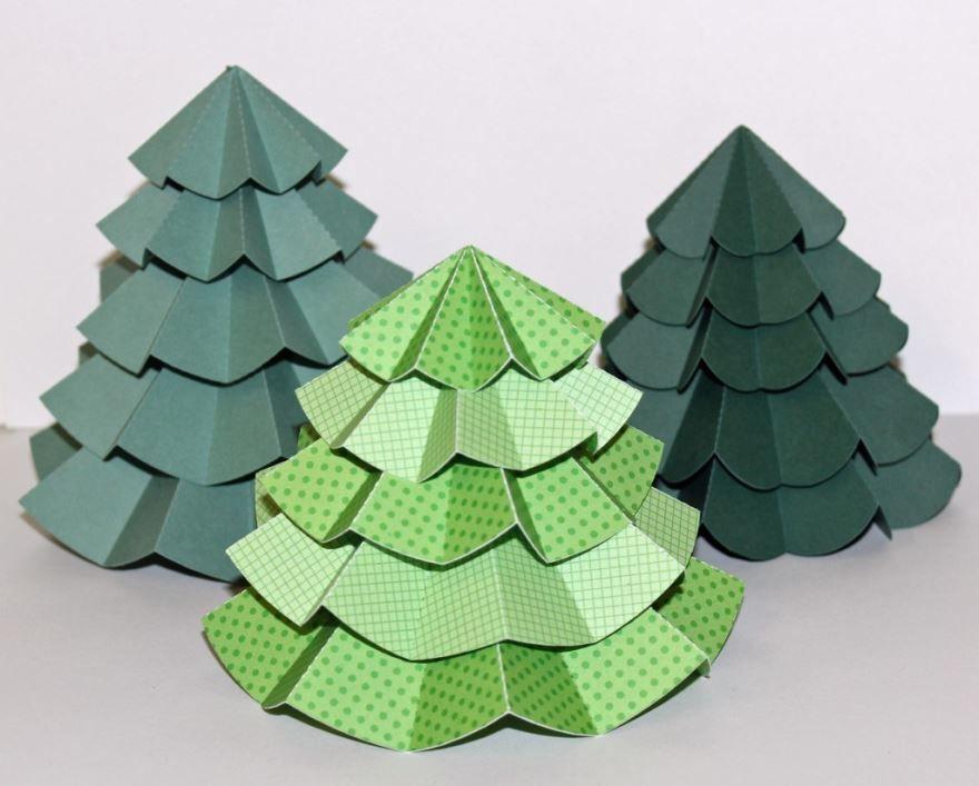 Поделка из бумаги Новогодняя елка, своими руками