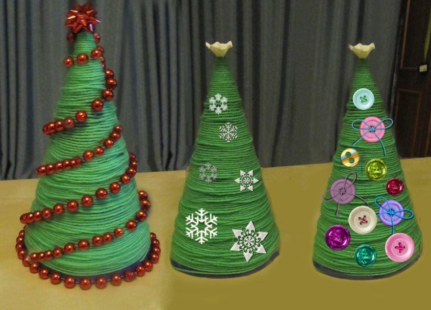 Новогодние поделки на елку, своими руками