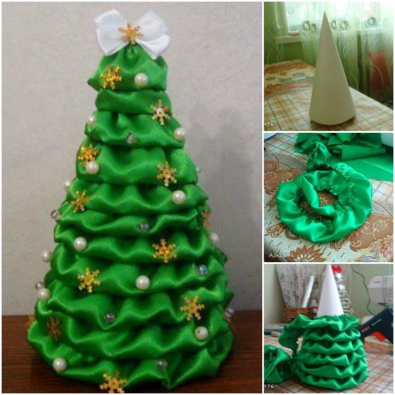 Новогодняя елка, своими руками поделка в школу