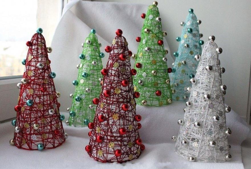 Новогодние поделки елки, своими руками