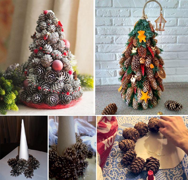 Как сделать поделку Новогоднюю елку?