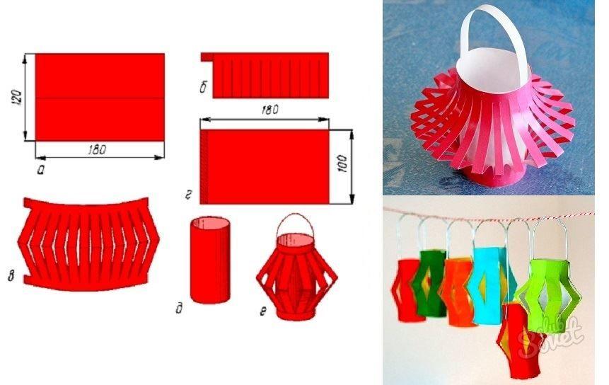 Как сделать фонарик из бумаги?