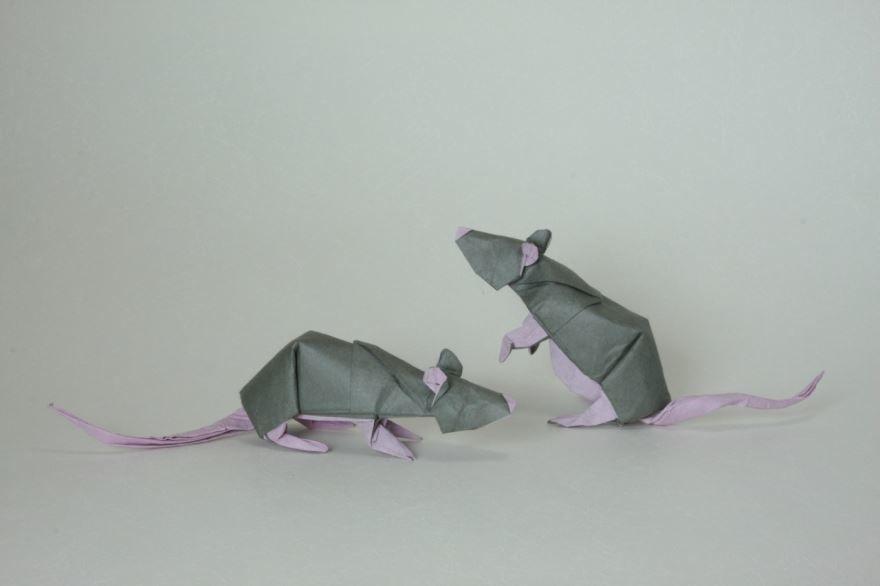 Поделка крыса на Новый год, из бумаги