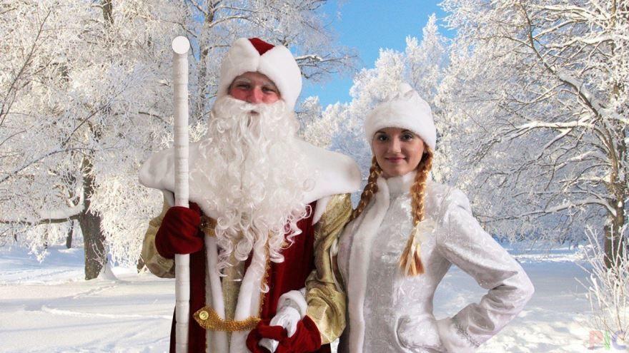 Дед Мороз и Снегурочка, картинки