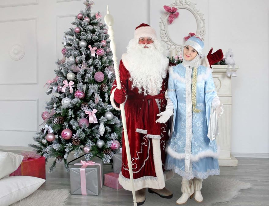 Дед Мороз со Снегурочкой, фото